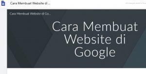 cara membuat website di google
