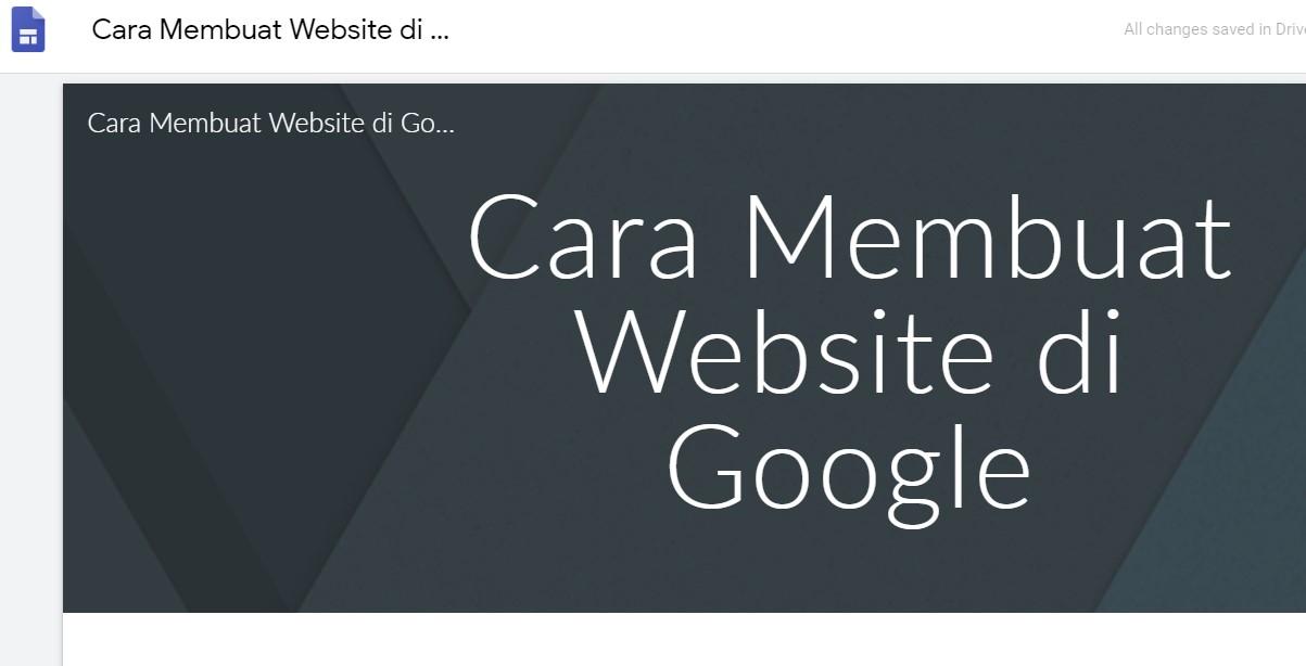27+ Cara Menggunakan Google Site paling mudah