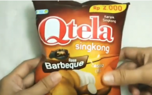 desain kemasan qtela casava chips